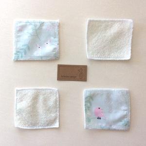 Bambusz frottir és prémium pamut textilből készült arctisztító párna csomag - NoWaste - Artiroka design, Szépségápolás, Arcápolás, Arctisztító korong, Varrás, Meska