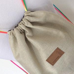Unikornis mintás gymbag hátizsák, szivárvány pánttal -tornazsák edzéshez, úszáshoz - Artiroka design (Mesedoboz) - Meska.hu