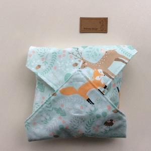 ÖKO szalvéta, szendvics- uzsonna csomagoló, macis mintával, vízhatlan PUL belsővel / NoWaste leírása- Artiroka design (Mesedoboz) - Meska.hu