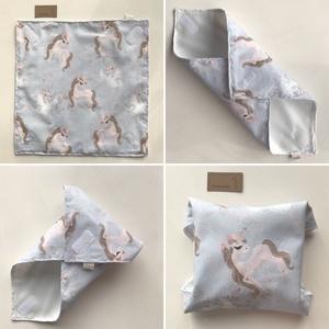 ÖKO szalvéta, szendvics - uzsonna csomagoló Unikornis lovacskás mintával, vízhatlan PUL belsővel / NoWaste (Mesedoboz) - Meska.hu