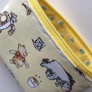 Micimackó, Tigris, Füles és Malacka mintás, pasztell sárga színű irattartó pénztárca, neszesszer - Winnie de Pooh  - Meska.hu