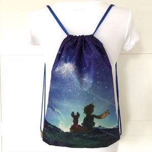 A Kis herceg és a róka mintás gymbag hátizsák - Artiroka design - kiránduláshoz, edzéshez, világjáráshoz (Mesedoboz) - Meska.hu