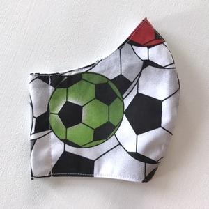Foci, focilabda mintás arcmaszk, szájmaszk, maszk - Artiroka design (Mesedoboz) - Meska.hu