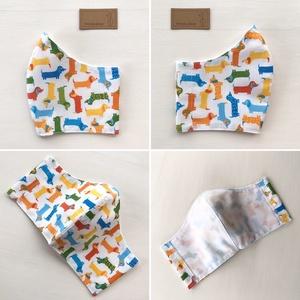 Tacskó kutya mintás arcmaszk, szájmaszk, maszk - Artiroka design - Meska.hu
