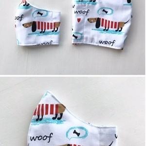 Tacskó kutya mintás arcmaszk, szájmaszk, maszk - Artiroka design (Mesedoboz) - Meska.hu