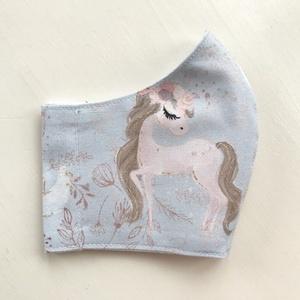 Unikornis mintás maszk, szájmaszk, arcmaszk, gyerek maszk prémium pamut textilből - Mesedoboz - Artiroka design (Mesedoboz) - Meska.hu