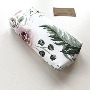 Prémium pasztell virág mintás, bélelt papírzsebkendő tartó - Artiroka design, NoWaste, Táska, Divat & Szépség, Táska, Pénztárca, tok, tárca, Zsebkendőtartó, Varrás, Prémium pamut textilből készült ez a virág mintás papírzsebkendő tartó. Bélése hozzá illő  csíkos pa..., Meska