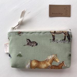 Ló mintás irattartó pénztárca - kisebb méretben  - Artiroka design  - Meska.hu