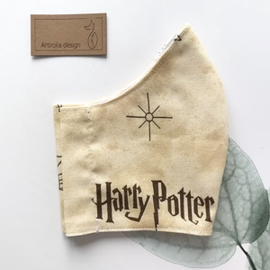 Harry Potter mintás prémium arcmaszk, szájmaszk, maszk - Artiroka design, Táska, Divat & Szépség, Szépség(ápolás), Egészségmegőrzés, NoWaste, Varrás, Többször használatos, mosható, környezetbarát szájmaszk, több méretben. Külső anyaga fekete, Harry P..., Meska