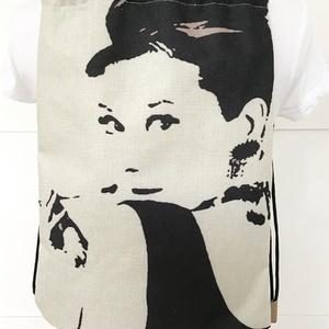 Audrey Hepburn mintás, egyedi gymbag hátizsák - tornazsák edzéshez, úszáshoz  - Artiroka design (Mesedoboz) - Meska.hu