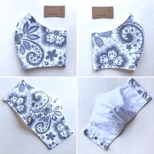 Hófehér csipke mintás arcmaszk, szájmaszk, maszk - Artiroka design - Meska.hu
