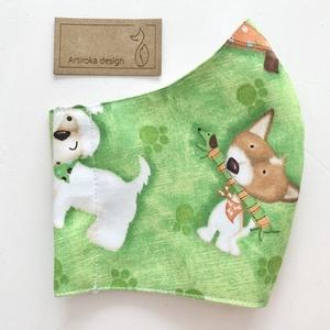 Tacskó kutya és más fajta kutya mintás prémium arcmaszk, szájmaszk, maszk S méret-   Artiroka design (Mesedoboz) - Meska.hu