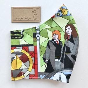Harry Potter mintás arcmaszk, szájmaszk, maszk - Artiroka design, Gyerek, Maszk, Arcmaszk, Varrás, Többször használatos, mosható, környezetbarát szájmaszk, több méretben. Külső anyaga Harry Potter mi..., Meska