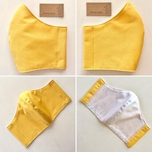 Egyszínű napsárga színű szájmaszk, maszk, gyerekmaszk - Artiroka design - Meska.hu