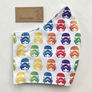 Star Wars mintás prémium arcmaszk, szájmaszk, maszk, gyerekmaszk- M méret - Artiroka design (Mesedoboz) - Meska.hu