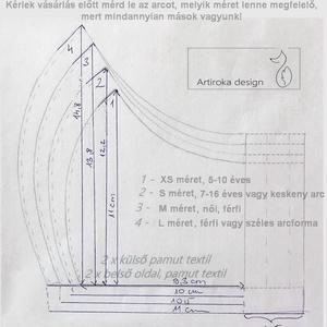 Róka család mintás maszk, PRÉMIUM pamut textilből - M MÉRETBEN  - Artiroka design  - Meska.hu