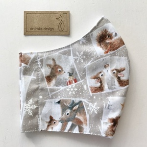 Bambi, őzike mintás prémium maszk, gyerek maszk, szájmaszk, arcmaszk prémium pamut textilből-  Artiroka design  (Mesedoboz) - Meska.hu
