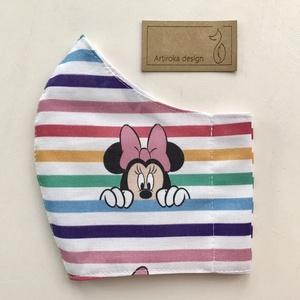 Miki egér PRÉMIUM pamut arcmaszk, szájmaszk, maszk, gyerek maszk - Mickey és Minnie  - Artiroka design - Meska.hu