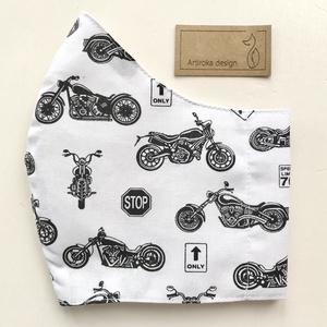 Motor mintás prémium szájmaszk, maszk, arcmaszk - Harley Davidson - Artiroka design (Mesedoboz) - Meska.hu