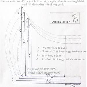 Sötétkék - fehér, jegesmedve mintás arcmaszk, szájmaszk pamut textilből - Artiroka design (Mesedoboz) - Meska.hu
