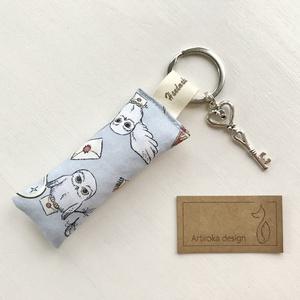 Hedvig bagoly a Harry Potter könyvből -  kulcstartó, kis vintage kulccsal  - Artiroka design (Mesedoboz) - Meska.hu