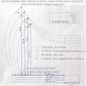 Bicikli mintás kék színű arcmaszk, szájmaszk, maszk - Artiroka design leírása - Meska.hu