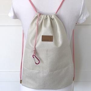Unikornis mintás rózsaszín gymbag hátizsák, ovis zsák, tornazsák edzéshez, úszáshoz - Artiroka design - ovi- és sulikezdés - tornazsák, gymbag - Meska.hu