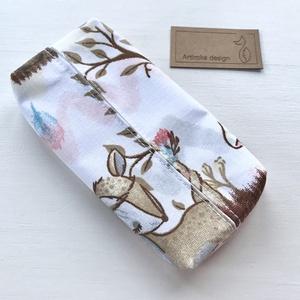 Róka, bagoly, mókus és őzike mintás bélelt papírzsebkendő tartó - Artiroka design - Meska.hu