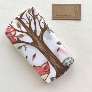 Nyuszi, róka, őzike és mókus az erdőben mintás papírzsebkendő tartó - Artiroka design - Meska.hu