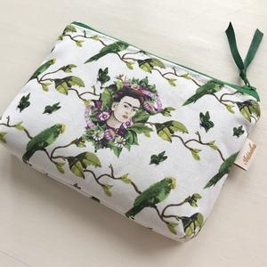 Frida Kahlo mintás irattartó pénztárca - Spanyol papagáj - Artiroka design (Mesedoboz) - Meska.hu