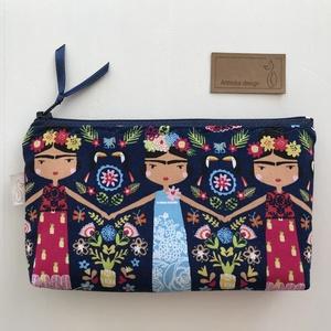 Frida -  prémium pamut textilből készült egyedi neszesszer - Mesedoboz  - Artiroka design , Maszk, Arcmaszk, Női, Varrás, Meska