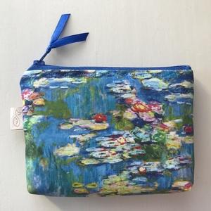 Claude Monet, Vizililiomok - impresszionista festmény -  irattartó pénztárca - Artiroka design - Meska.hu