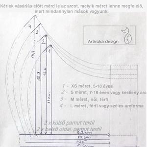 Fekete cica mintás arcmaszk, szájmaszk, maszk - macska -  AKCIÓ -    Artiroka design - Meska.hu