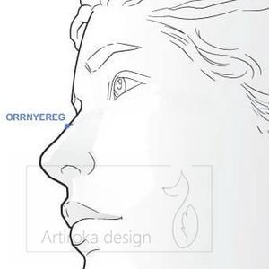 Cica mintás arcmaszk, szájmaszk, maszk -  narancs, szürke és fehér - Artiroka design - Meska.hu