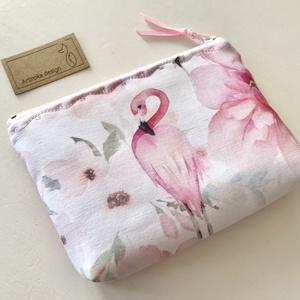 Flamingó mintás prémium irattartó pénztárca  - Artiroka design, Táska & Tok, Neszesszer, Varrás, Meska