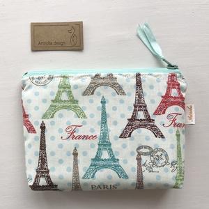 Világjáró irattartó pénztárca - Párizs - Eiffel torony - Artiroka design, Táska & Tok, Pénztárca & Más tok, Varrás, Patchwork, foltvarrás, Meska