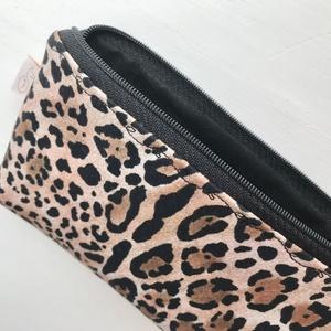 Leopárd mintás  prémium tolltartó, irattartó neszesszer, mobiltok, szemüvegtok  - Artiroka design - táska & tok - neszesszer - Meska.hu