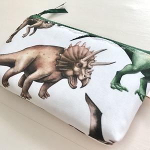 Dinoszaurusz mintás neszesszer, szemüvegtok, tolltartó  - Artiroka design - Meska.hu
