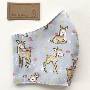Bambi, őzike mintás prémium maszk, gyerek maszk, szájmaszk, arcmaszk prémium pamut textil -  Artiroka design , Maszk, Arcmaszk, Gyerek, Varrás, Meska