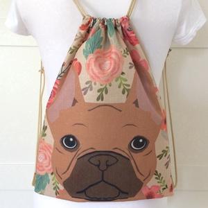 AKCIÓ - Kutya mintás egyedi gymbag hátizsák  - edzéshez, úszáshozvagy a mindennapokhoz - Artiroka design - Meska.hu