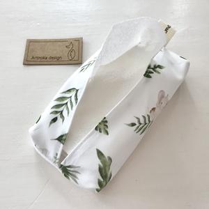 Kis elefánt a pálma levelek között mintás,  bélelt papírzsebkendő tartó - Artiroka design - Meska.hu