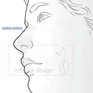 Jázmin hercegnő mintás, fehér színű prémium maszk, szájmaszk, arcmaszk - Artiroka design - Meska.hu