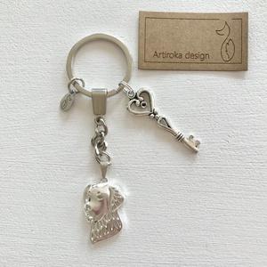 Kutya mintás, golden retriever egyedi kulcstartó - Artiroka design - Meska.hu