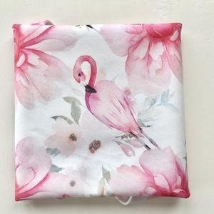 Flamingó mintás prémium újraszalvéta - Nowaste - Zerowaste - Artiroka design , Ovi- és sulikezdés, Uzsonna- & Ebéd tartó, Szendvics csomagoló, Varrás, Meska