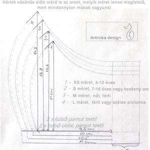 Fúvós hangszer mintás, prémium arcmaszk, szájmaszk, maszk - koncert - zene - Artiroka design - Meska.hu