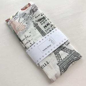 Párizs és London hangulat - Eiffel torony és London mintás zsebkendő vagy szalvéta szett - NoWaste - Meska.hu