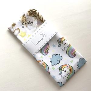 Unikornis mintás, pamut textil zsebkendő vagy szalvéta szett, pasztell színben - Artiroka design - Meska.hu