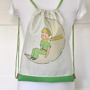 Egyedi Kis herceg mintás hátizsák, tornazsák, oviszsák - edzéshez, úszáshoz - Artiroka design, Táska & Tok, Hátizsák, Varrás, Hímzés, Meska