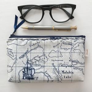 Világjáró prémium tolltartó, neszesszer vagy szemüvegtok  - egyedi -  Artiroka design, Táska & Tok, Neszesszer, Varrás, Patchwork, foltvarrás, Meska