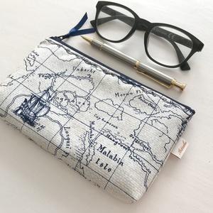Colombus - Világjáró prémium tolltartó, neszesszer vagy szemüvegtok  - egyedi -  Artiroka design - táska & tok - neszesszer - Meska.hu